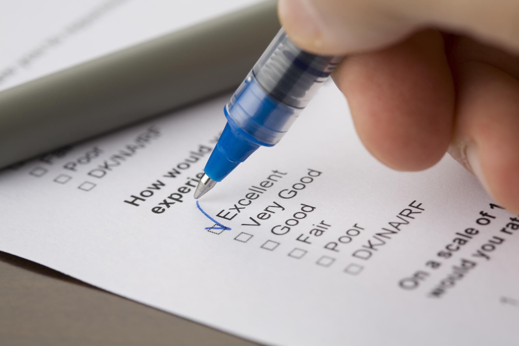 Filling questionnaire form